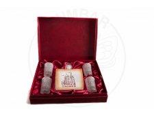 Poklon paket 4 čaše i jedna boca (pjeskareno) zagreb